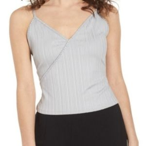 Madison & Berkeley Rib Surplice Camisole NWT